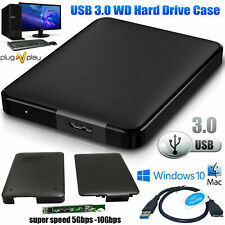 USB 3.0 2.5 Inch WDHDD SSD Hard Drive Enclosure Caddy Case For LAPTOP PC DVR