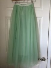J Crew $198 Tulle Ball Skirt Sz 000 Cool Mint Green G3512 New