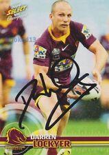 Signed Darren Lockyer Brisbane Broncos Autograph on 2009 Champions Card