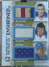 2013-14 ITG Superlative The First Six Enshrined Giacomin-Park-Dionne /14 Rangers