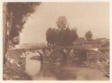G0586 China - Pont sur le Canal impérial - Stampa d'epoca - 1926 Old print