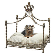 PET SUPPLIES - CROWN COURT CANOPY PET BED - ANTIQUE GOLD - DOG BED - CAT BED