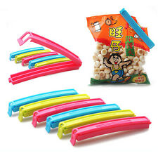 6 Pcs Plastic Fresh Snack Food Storage Bag Closer Sealing Sealer Clip Useful AU