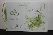 Gästebuch zur Hochzeit , apfelgrün