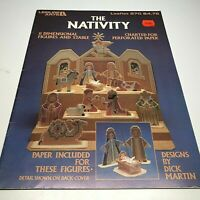 The Nativity Charted for Perforated Paper Cross Stitch Pattern for 2 Dimensional