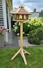 VOGELHAUS aus HOLZ Vogelhäuschen Vogelhäuser Vogelfutterhaus +Ständer