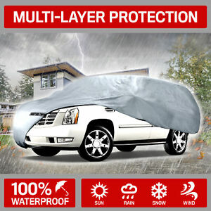 """Motor Trend 4-Layer 4-Season Deluxe Car Cover for Van SUVs  up to 200"""""""