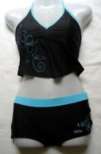 arena Damen Mädchen Bikini Tankini Lubina 38 Black Bahia  chlorbeständig 14046