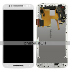 For Motorola Moto X Style XT1572 XT1570 White LCD Display Touch Assembly+Frame