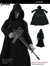 "DOLLSFIGURE CC042 1:6 Scale 12"" Male Action Figure Black Cape Cloak Model Toy"
