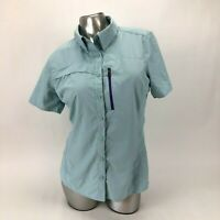 Under Armour Semi-Fitted Heat Gear Button Up Short Sleeve Shirt Womens Medium