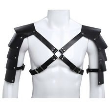 Mens Armor Chest Body Harness Leather Lingerie Underwear Gay  Clubwear Costume