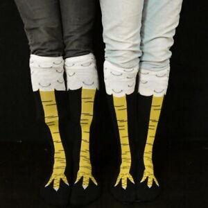 Women Chicken Foot Socks Leg Knee Socks 3D Chicken Socks Xmas Animal Stockings g
