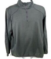 Under Armour Reactor Shirt XL Green 1/4 Zip Loose Cold Gear Ventilation Fleece