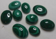 UNIQUE140CT 09 PCS OF OVAL SHAPE  NATURAL MALACHITE GEMSTONES  FROM INDIA