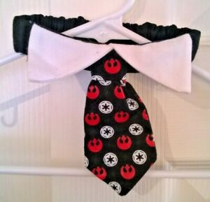 small pet Star Wars neck tie with collar - cat or small dog