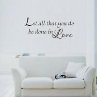 Bible Scripture Decals Vinyl Wall Art Religious Home Decal Decor Christian Quote