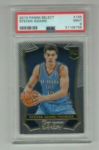 2013 Panini Select Steven Adams Thunder Rookie Card #195 PSA 9 MINT 51106798