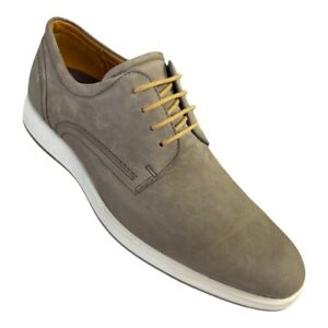Ecco Mens Jared Oxfords Shoes Gray Taupe Suede Leather Comfort 8-8.5 EUR 42