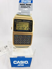 CASIO DBC-610GA-1DF GOLD DATABANK WATCH STAINLESS STEEL 50 PAGES TELEMEMO