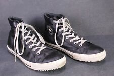 CB583 Converse All Star Chucks Hi Sneaker Boots Gr. 45 Leder Leather schwarz