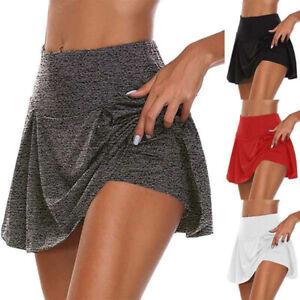 Women Sports Yoga Skort Casual Loose Beach Skirt Summer Casual Shorts Plus Size