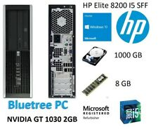 HP 8200 SFF Quad Core I5  8GB RAM 1TB HDD W10 Nvidia GT 1030 Desktop Computer PC