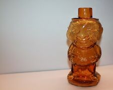 INDIANA GLASS TIARA JOLLY OLD MAN MOUNTAINEER AMBER TUMBLE UP! DECANTER w/o shot