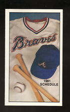 Atlanta Braves--1981 Pocket Schedule--Budweiser