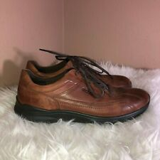 ECCO Men's Irving Brown Leather Lace Up Tie Casual Shoes Sz 10.5 US - 43B EUR