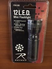 885 Rothco 12 High Powered LED's Rubber Grip Flashlight