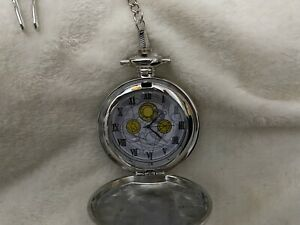 Doctor Who 10th Doctor Metal Fob Working Pocket Watch