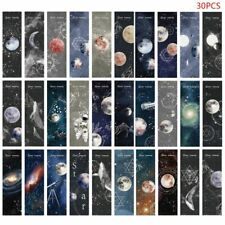 30pcs Planet Bookmarks Paper Page Notes Label Message Card Book Marker School