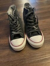 Converse Chuck Taylor Gray High Tops with Wedge Heel - Women's Size 8