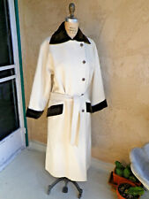 Vintage Yves Saint Laurent Rive Gauche Wool Double Breasted Trench Coat SZ 38