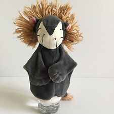 Grey Lion with mane - hand puppet