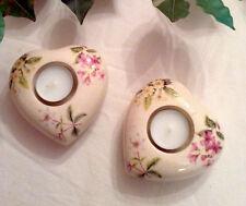 Teelichthalter 2er Set Herz * Terrakotta Herzen *inkl. 2 Teelichter* *NEU* #LOVE