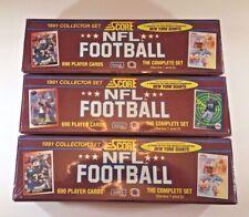 Lot of 3 - 1991 SCORE Football Complete Set FACTORY SEALED Rookie Brett Favre