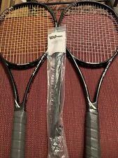 2 Wilson Blade 98 16x19 2013 racquets 4 3/8 w/ Grommet Set