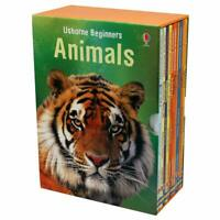 NEW Usborne Beginners Animals 10 Books Box Set Collection Educational Learning!