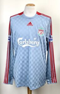 LIVERPOOL 2008 ADIDAS LONG SLEEVE SHIRT TORRES No.9 PATCHES XL