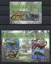MALEDIVEN MALDIVE 2010 Reptilien Schlange Schildkröte Turtle 4821-24 + Bl. 631