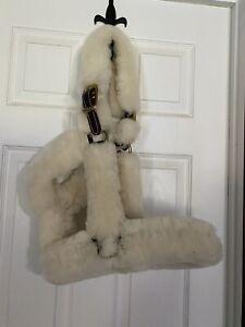 Learher Fleece Coverd Halter
