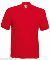 BULK BUYER Fruit of the Loom Classic 65/35 Polo Shirt in 15 Colours S - XXXL