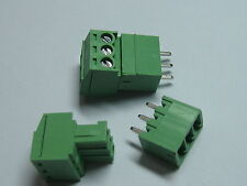 12 pcs Screw Terminal Block Connector 3.5mm 3 pin/way Green Pluggable Type New