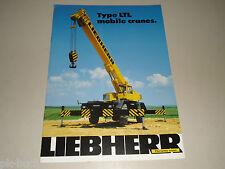 Prospekt Brochure Liebherr Type LTL Mobile Crane Mobilkran Kran, Stand 08/1983