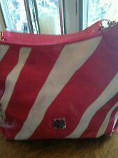 Dooney &Bourge Large Pink &White Leather &Canves Handbag