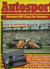 Autosport August 11th 1983 *German Grand Prix & Argentine Rally & Knutsdorp F3*