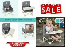 Omniboost Folding Portable High Chair Travel Booster Seat With Tray For Baby