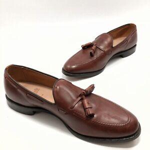 "✅💟✅5 Allen Edmonds ""GRAYSON"" Dress Tassel Loafers 12 D Chili Leather Apron Toe"
